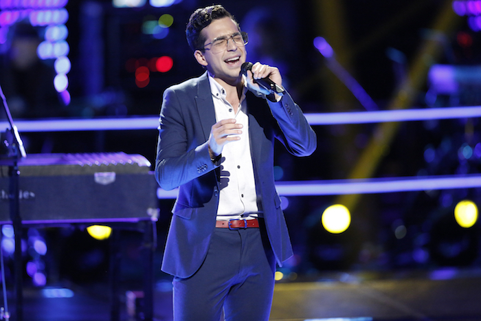 "THE VOICE -- ""Battle Rounds"" -- Pictured: Michael Sanchez -- (Photo by: Tyler Golden/NBC)"