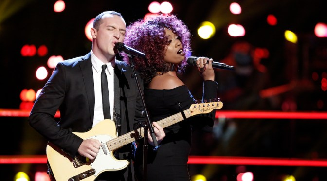 Aaron Gibson, Sa'Rayah Rule The Voice Battle Rounds, Night 3