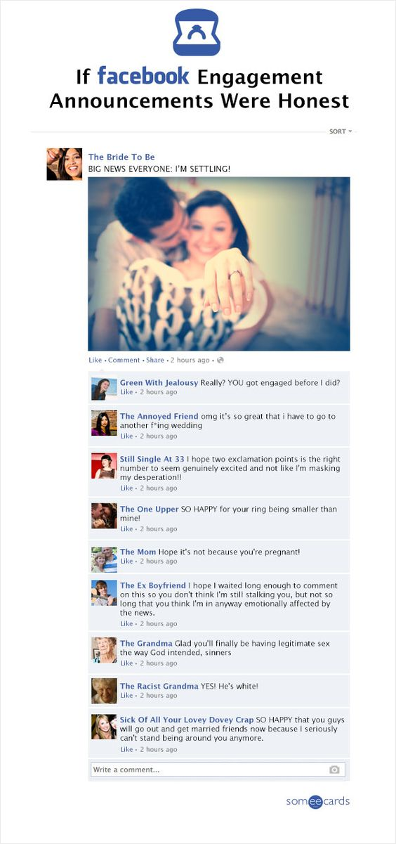Engagement Announcement On Facebook : engagement, announcement, facebook, Honest, Facebook, Engagement, Announcement, Fried
