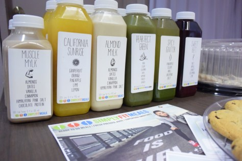 Yummy drinks courtesy of Simply Fit Meals