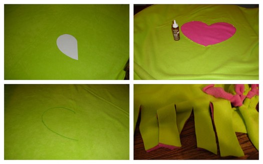 Making Reverse-Applique Fleece Blanket