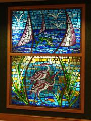 Stained Glass in Lobby at Perdido Beach Resort, Orange Beach AL