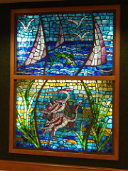 Stained Glass in Lobby at Perdido Beach Resort, Orange Beach AL