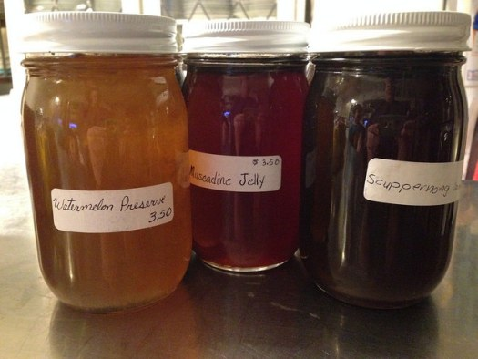 Amish: Watermelon Preserves, Muscadine Jelly, Scuppernong Jam