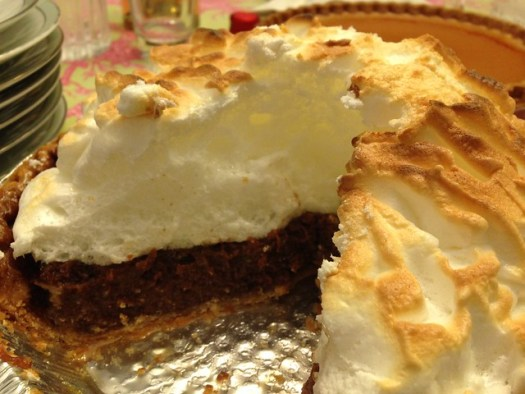Homemade Ollie's Chocolate Meringue Pie