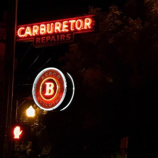 Carburetor, Neon Sign, Birmingham AL