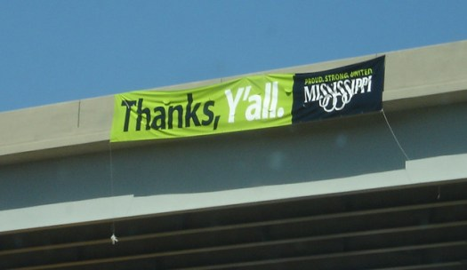 Thanks, Y'all Mississippi Sign
