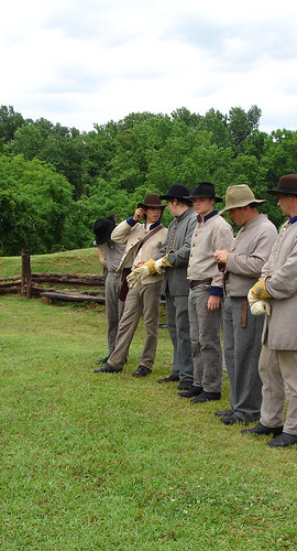 Reenactors at Vicksburg National Cemetery, Vicksburg MS