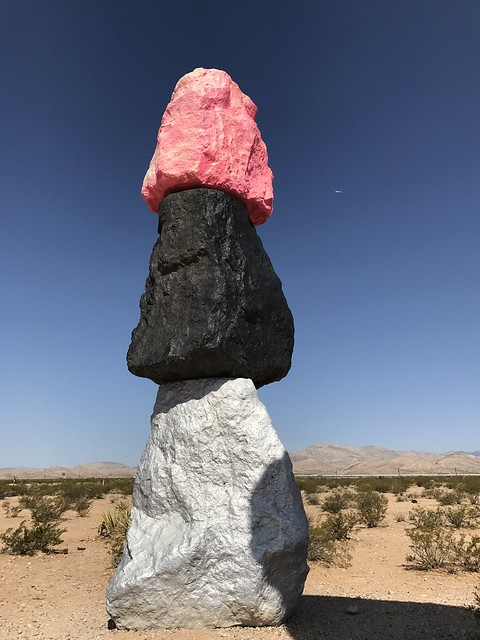 Ugo Rondinone's Seven Magic Mountains outside Las Vegas
