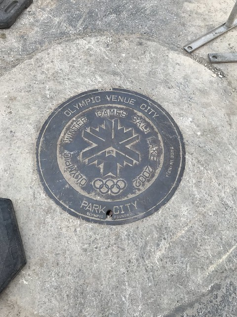 Park City Manhole Cover. Olympic Winter Games 2002.