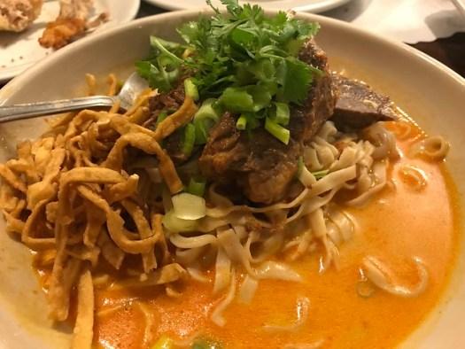 Crispy Duck Khao Soi, Lotus of Siam, Las Vegas