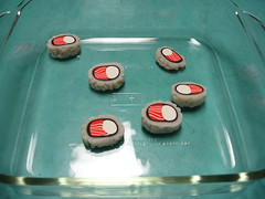 Bagel Roll Sushi Magnets Made From Sculpey 9