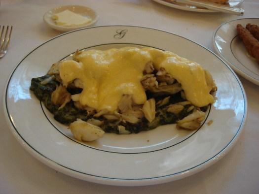 Crabmeat Sardou, Galatoire's, New Orleans LA