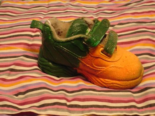 L.V. Hull decorated shoe, Kosciusko MS