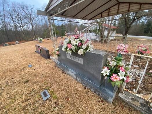 Rollo Graveshelter, McKinley's Chapel Community Cemetery, Bremen AL
