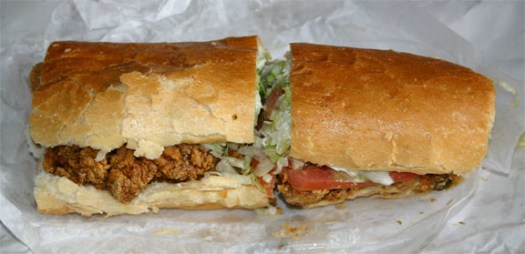 Oyster Po Boy from Acme Oyster House in New Orleans