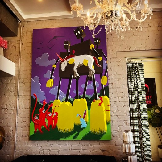 John Lytle Wilson artworks at Beauty Shock, Birmingham AL