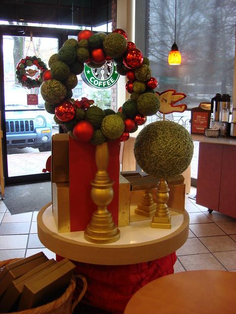 Starbucks Yarn Wreath