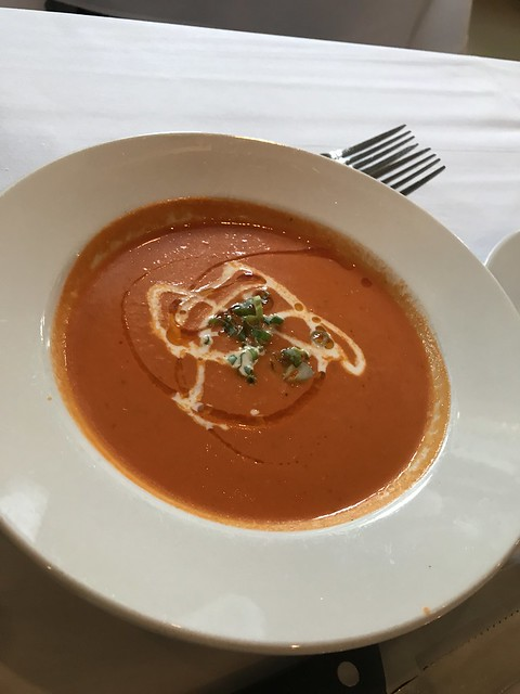 Goat cheese and tomato bisque, Apolline, New Orleans