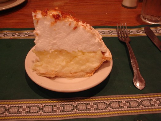 Coconut Meringue Pie at the Crystal Grill, Greenville MS