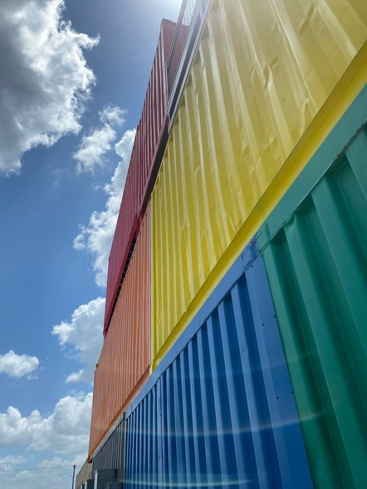 Colorful Train Freight Containers Waco TX