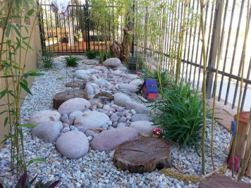 Stepping stones in a nature playground