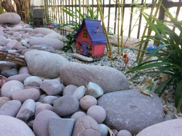 Stones in a nature playground