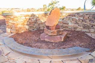 John pat peace place rock sculpture