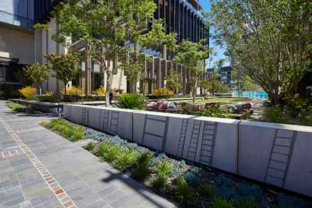 Westin hotel wall and garden