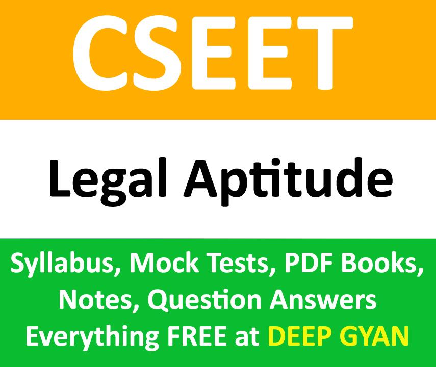 CSEET Legal Aptitude