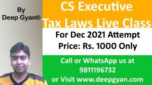 CS Executive Live Classes