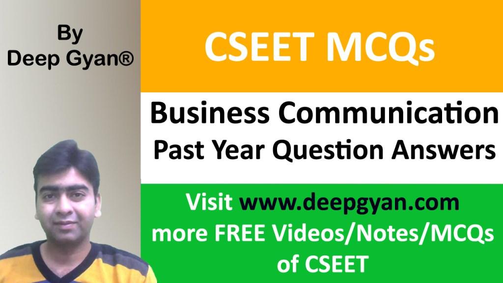 CSEET Business Communication MCQs