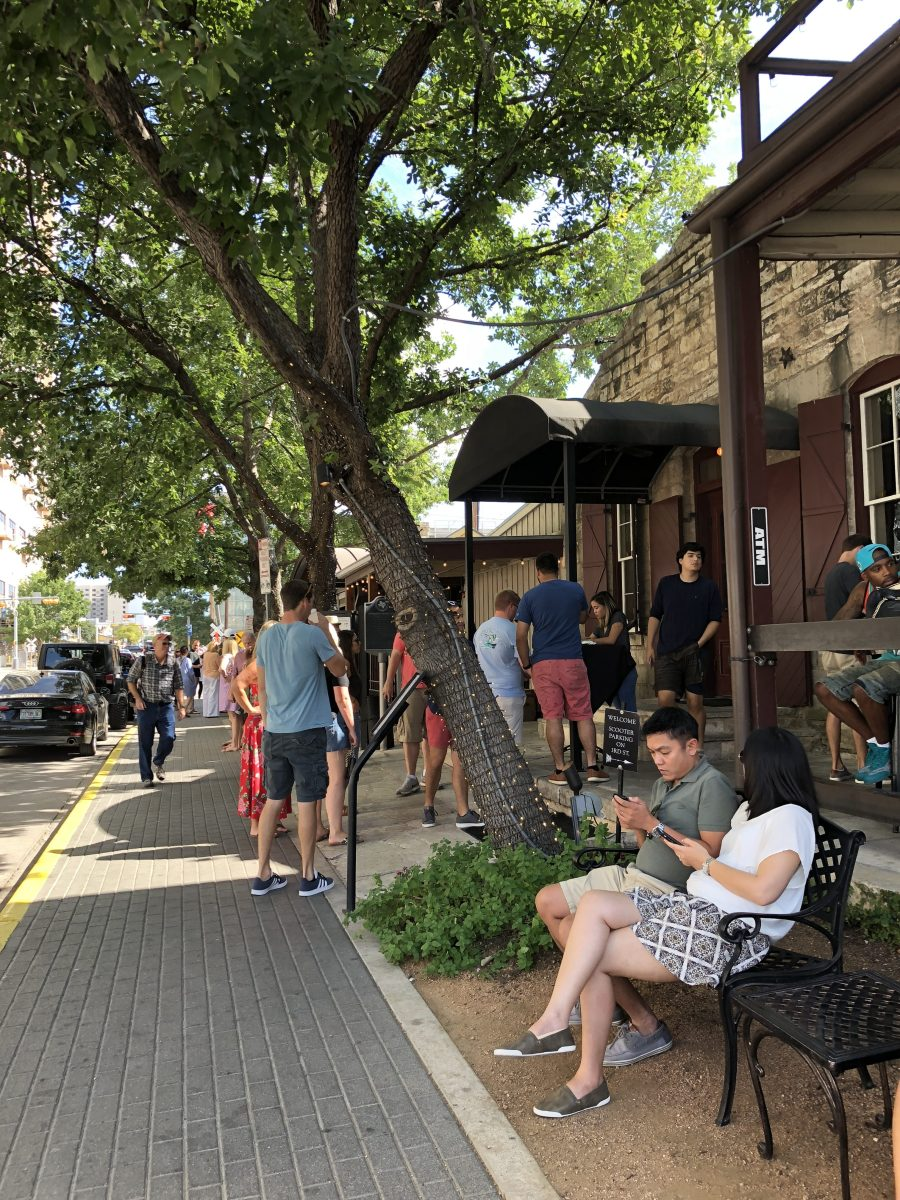 Brunch at Moonshine Grill during relaxed 2-day itinerary in Austin with kids