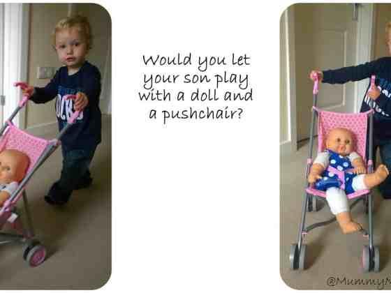 boy with pushchair