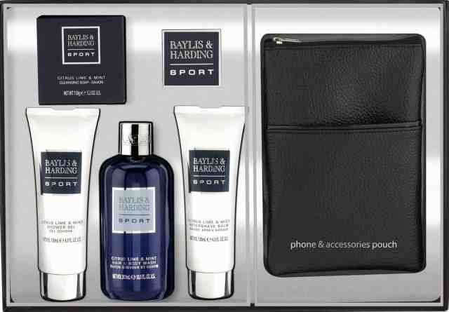 Baylis and Harding Men's Sport Citrus Lime and Mint Tray Accessory Set