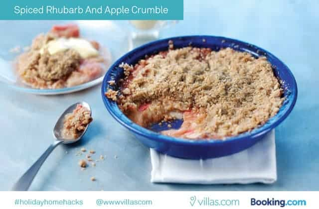 Spiced Rhubarb and Apple Crumble