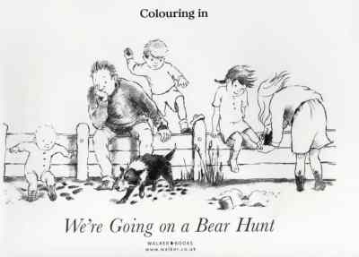 #BearHunt Colouring In