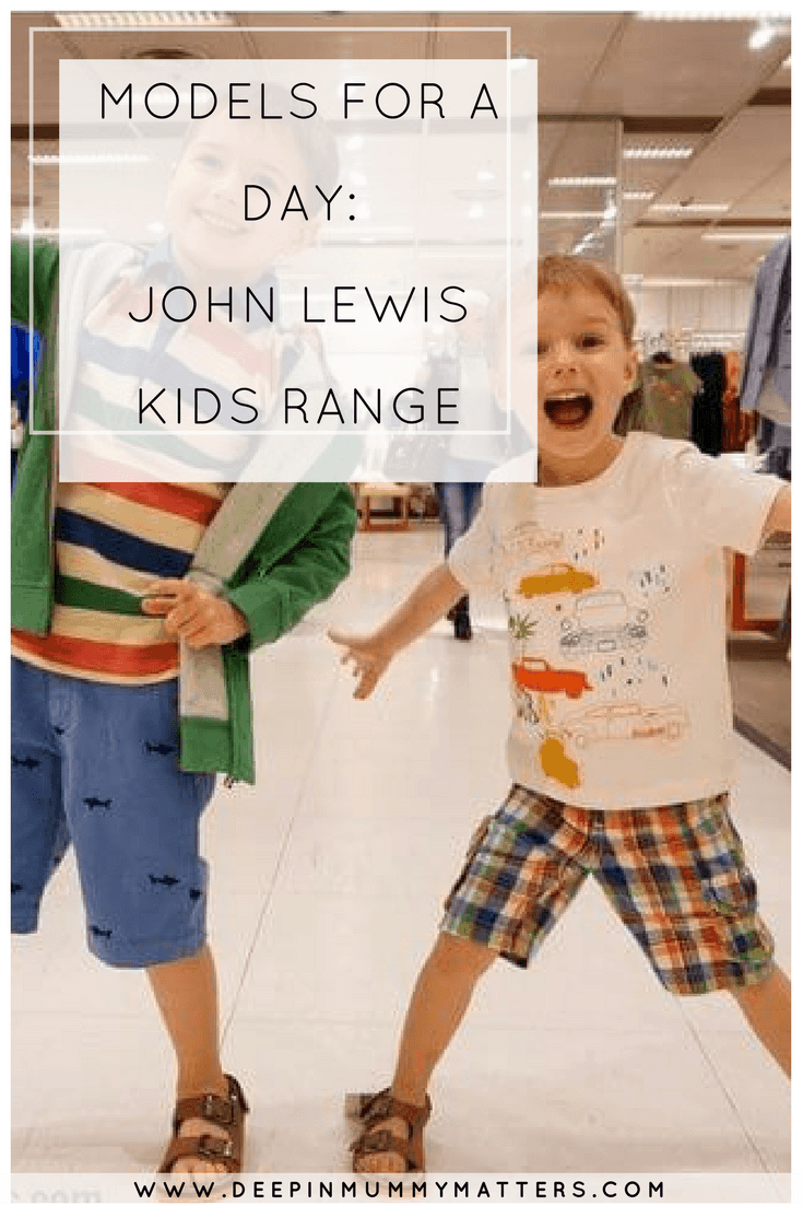 MODELS FOR A DAY: JOHN LEWIS KIDS RANGE