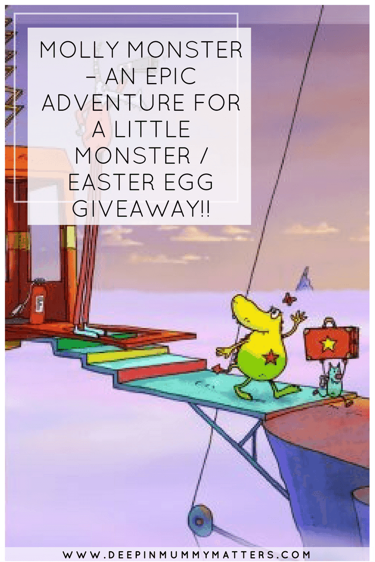 MOLLY MONSTER – AN EPIC ADVENTURE FOR A LITTLE MONSTER / EASTER EGG GIVEAWAY!!