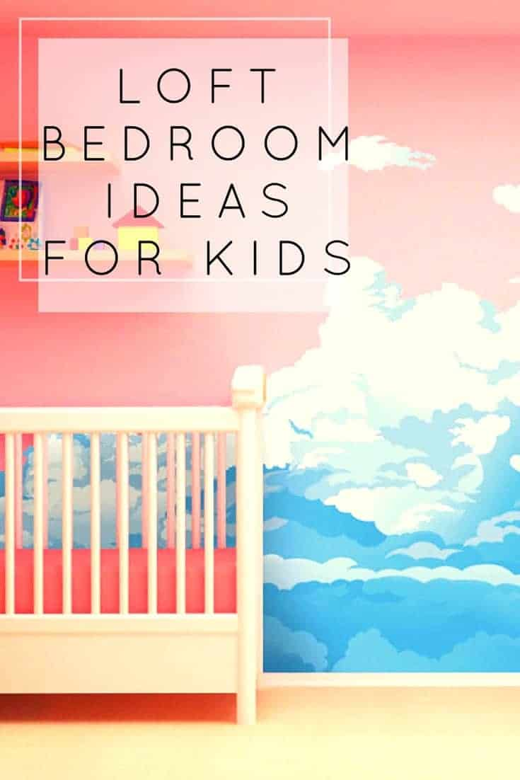 Do you need some loft bedroom ideas like this cot, beautiful painted sea wall and shelves?