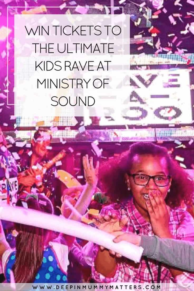 WIN TICKETS TO THE ULTIMATE KIDS RAVE AT MINISTRY OF SOUND