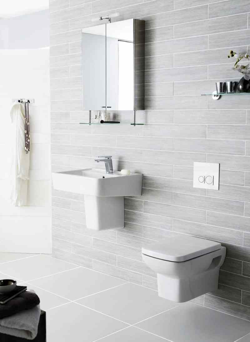 wall mounted basin and toilet