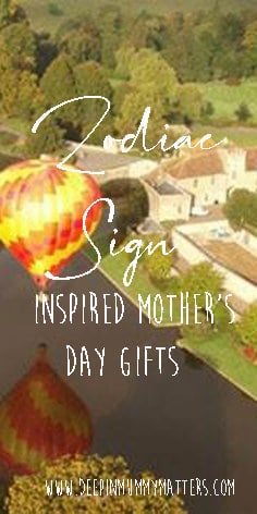 Zodiac sign inspired mother's day gifts