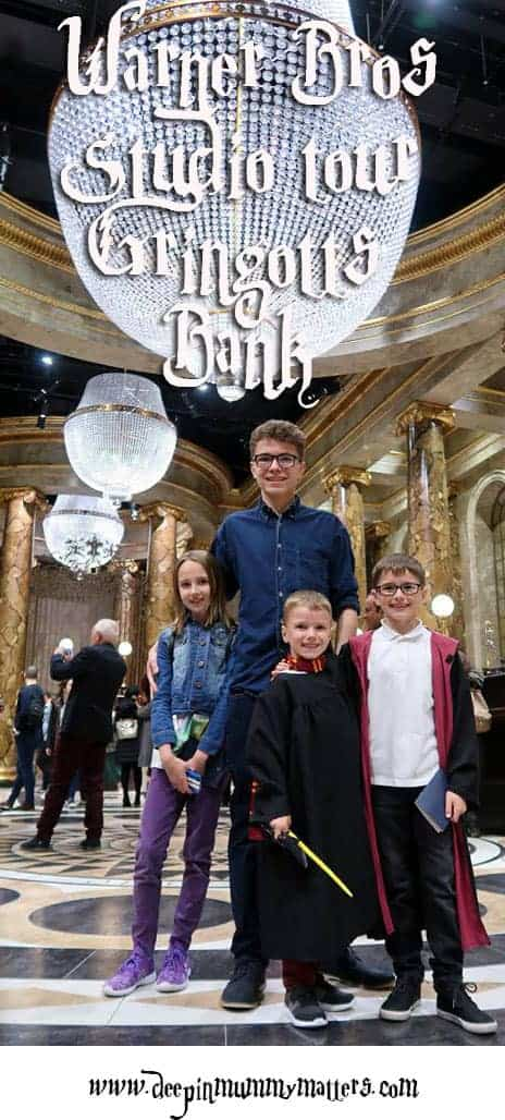 Harry Potter - Warner Brothers Studio Tour London, exploring Gringotts Bank