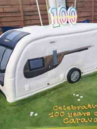 100 Years Caravan Birthday Cake