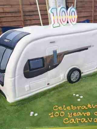 100 Years Caravan Birthday Cake