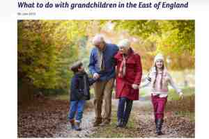 What to do with grandchildren in the East of England