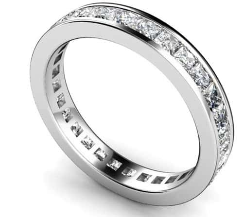 Channel eternity ring