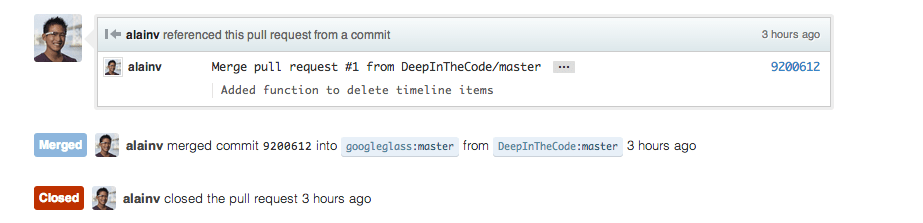 Github Merge Request Accepted!