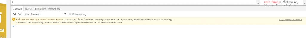 DevTools window on DIYthemes page